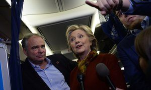 Clinton makes Republican nominee her Trump card in push to retake Congress In Pennsylvania, the leader in the White House race attacked a GOP senator over his party's candidate. Democratic advisers said to expect more of the same