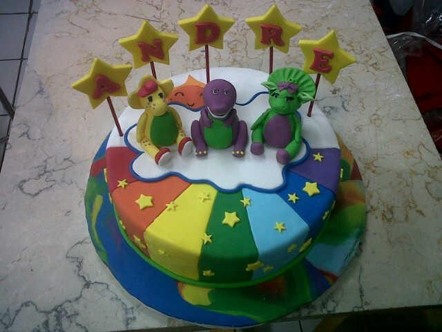 barney theme cake