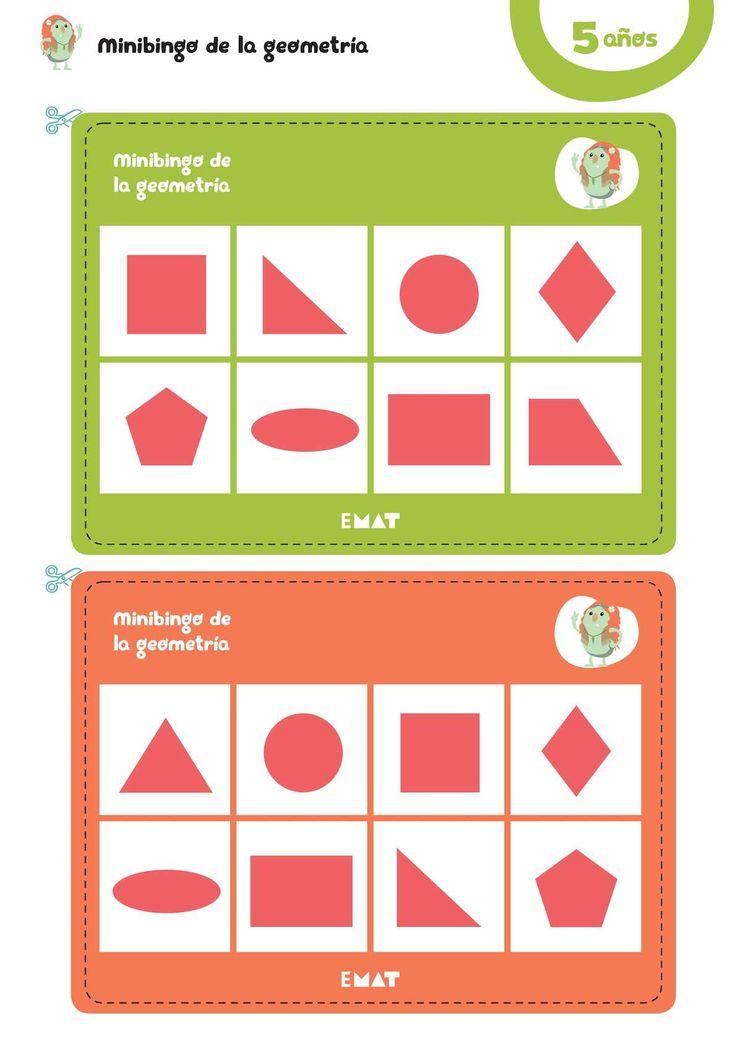En EntusiasMAT 5 años, con el Minibingo de la geometría y los bits de las figuras geométricas trabajamos la geometría de manera lúdica y amena. #EntusiasMAT #matemáticas #juego #educacióninfantil #educación #recursos