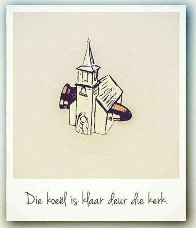 Koeël deur kerk