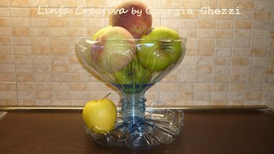 fruit bowl with old water bottle