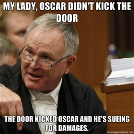 One of the many memes involving Barry Roux, doing the rounds in the Oscar Pistorius murder trial