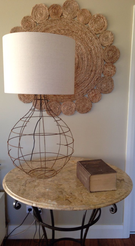"""Rusty Belle"" table lamp."