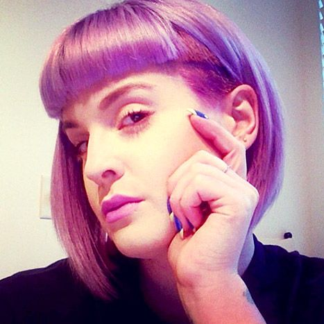 Kelly Osbourne debuted a half-shaved bob on Apr. 6