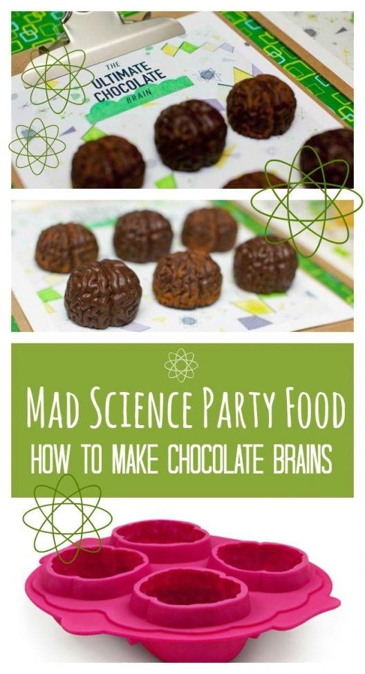 Mad Science Party Food: Chocolate Brains - www.spaceshipsandlaserbeams.com
