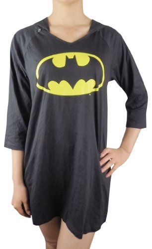 DC Comics Womens Batman Soft & Comfortable Pajama Lounge Sleeping Dress - Black (Size: XL) DC Comics,http://www.amazon.com/dp/B00BUECHGU/ref=cm_sw_r_pi_dp_PPZisb0RGW5MRRF5