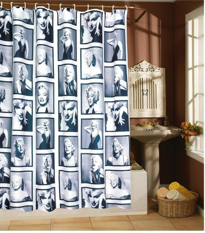 The shower curtain for the bathroom Js4044 monroe terylene cloth bathroom 180x200cm 240x180 180x180 bath curtains