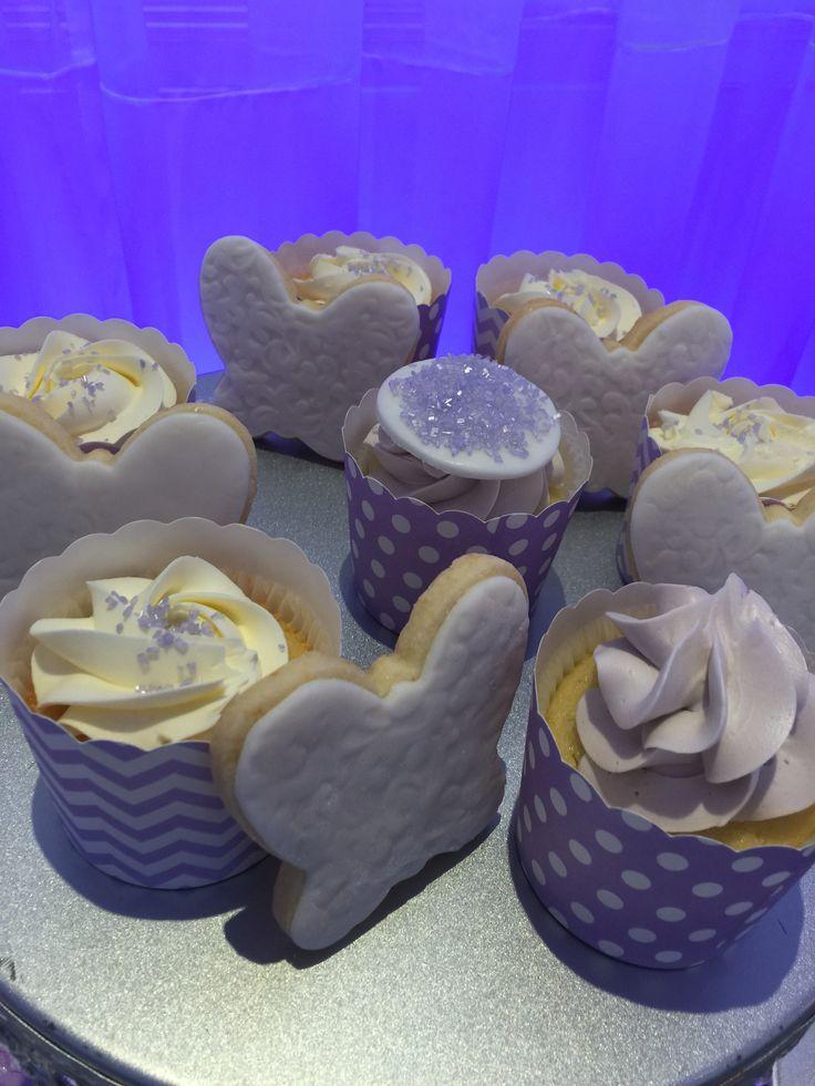 Bridal shower sweet buffet -lilac theme candy bar