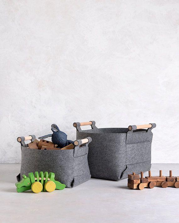 Gran canasta canasta gris sentido depósito