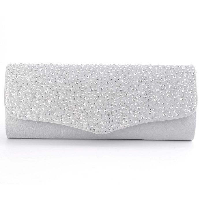 VIDA Leather Statement Clutch - Shimmering Squares Clutch by VIDA YvwRe