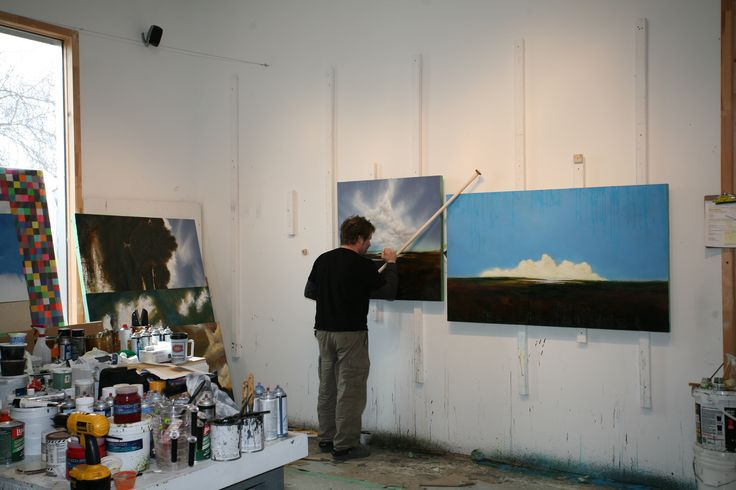 Working on the Winsor gallery show in 2010.