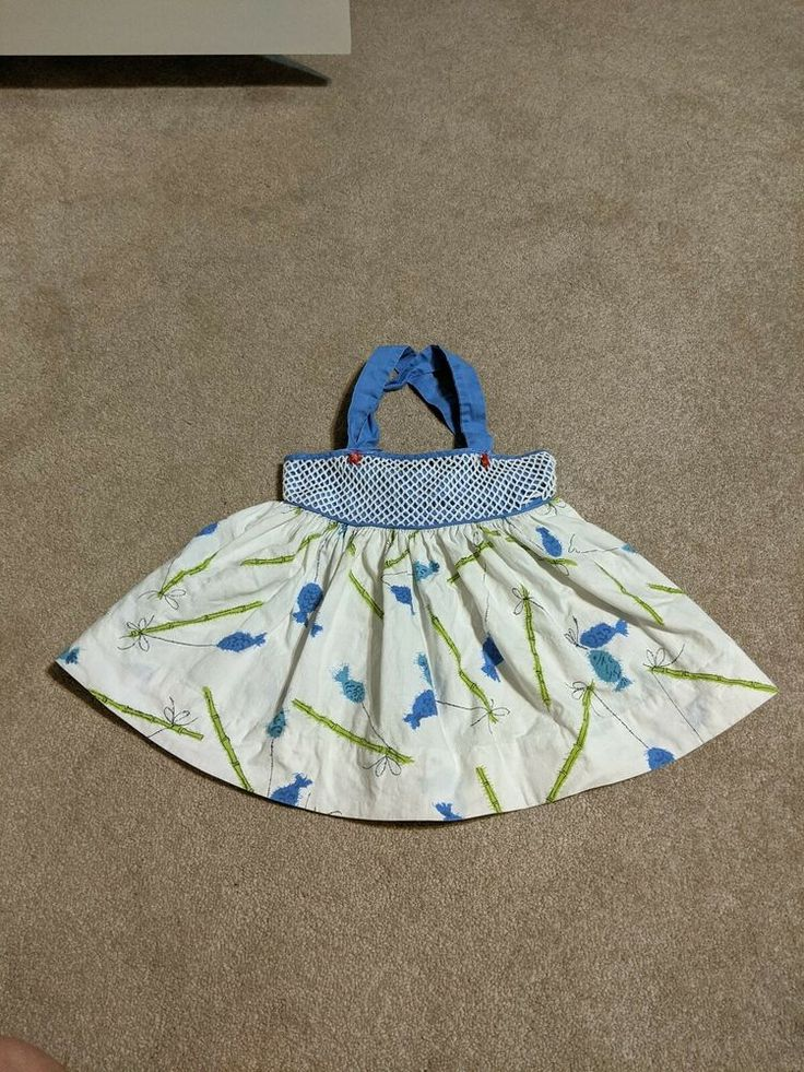 Vintage 70s Fruit of the Loom Sister Sue Sundress fish