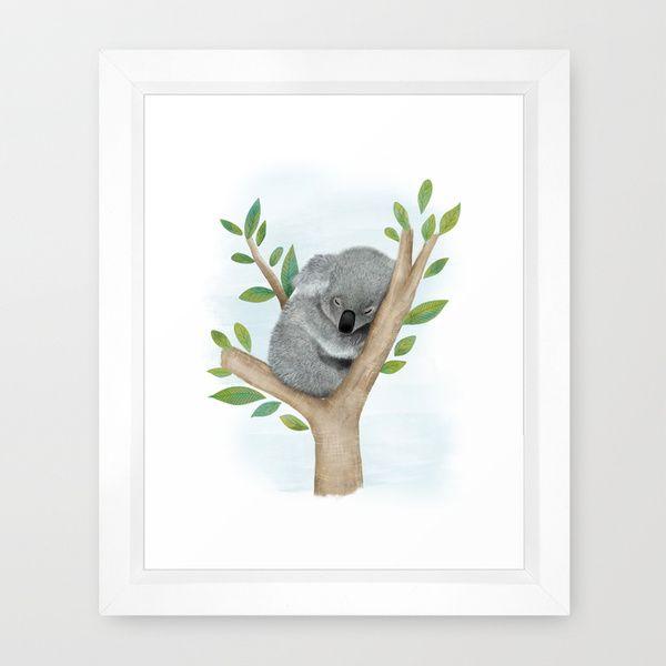 best koala bears images koala bears koalas and sleeping koala bear framed art print by hooray creative society6