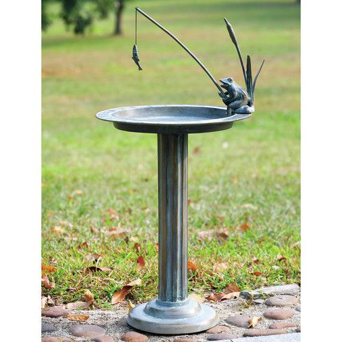 Found it at Wayfair - Fishing Frog Sundial/Birdbath