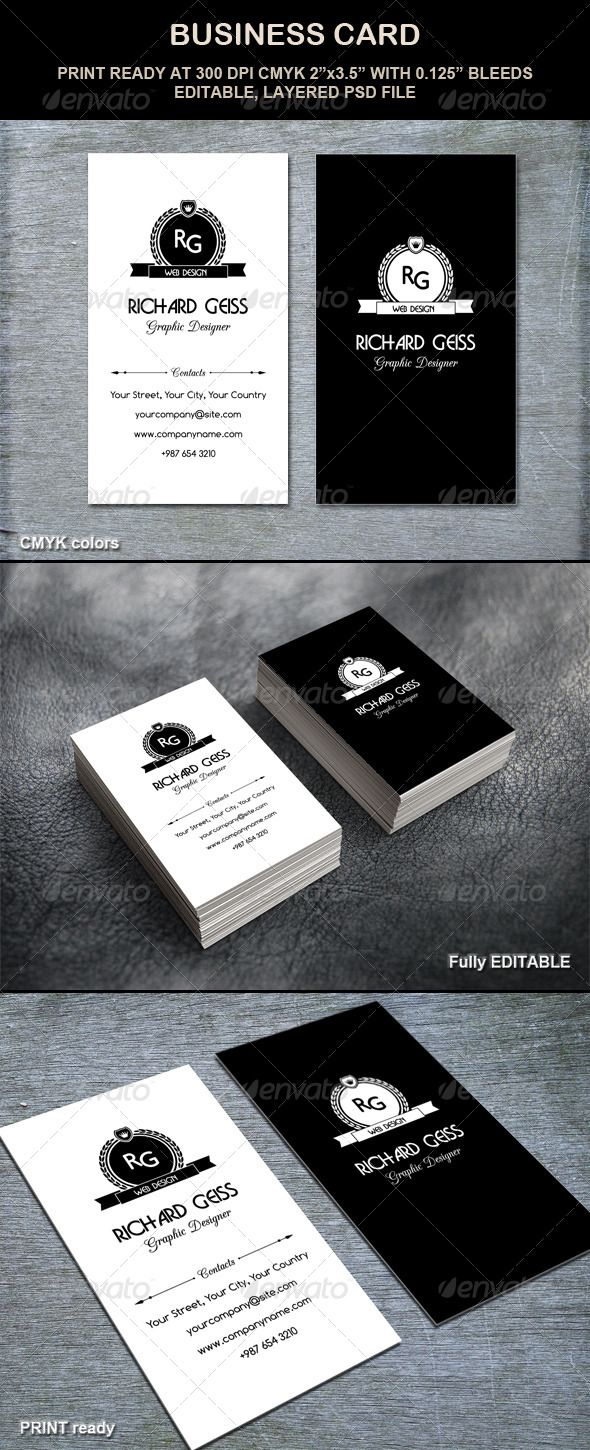 Business card printing free templates from nextdayflyers - Business Card Retro Style
