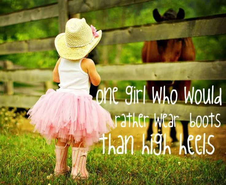 Amusing Horse Quotes With Pictures: Little Girl Dresses Pink Ribbon And Hat A Horse Quotes With Pictures