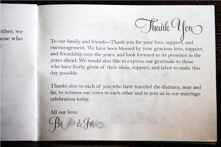 Wedding-Program-Thank-You-Messages.jpg (1024×682) | Wedding ...