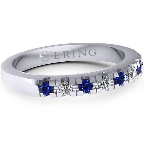Inel logodna L15ADISF Inel cu diamante si safire