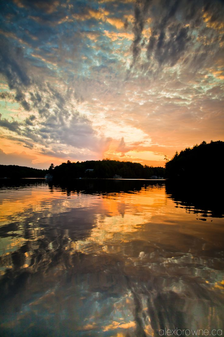 Sunset in Muskoka  Ontario, Canada http://www.travelandtransitions.com/our-travel-blog/ontario-2005-2012/