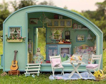 DIY Miniature Tiny Trailer Dollhouse