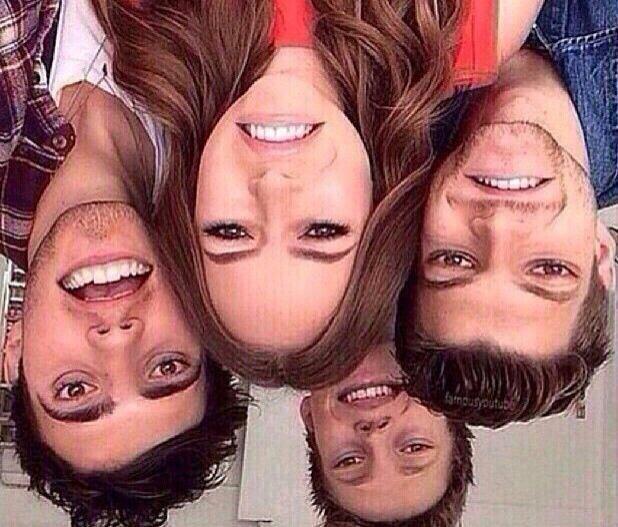 Upside down.   Look at it upside down