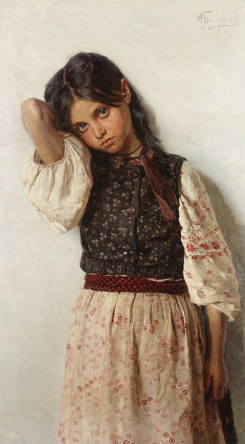 "Nikolai Kornilievich Bodarevsky (1850-1921), ""Girl from Little Russia"" 