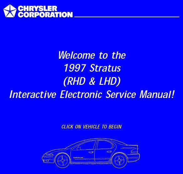 New Post Chrysler Ja Cirrus Stratus 1997 Rhd Lhd Service Manual Has Been Published On Procarmanuals Com Https Procarma Chrysler Manual Control System