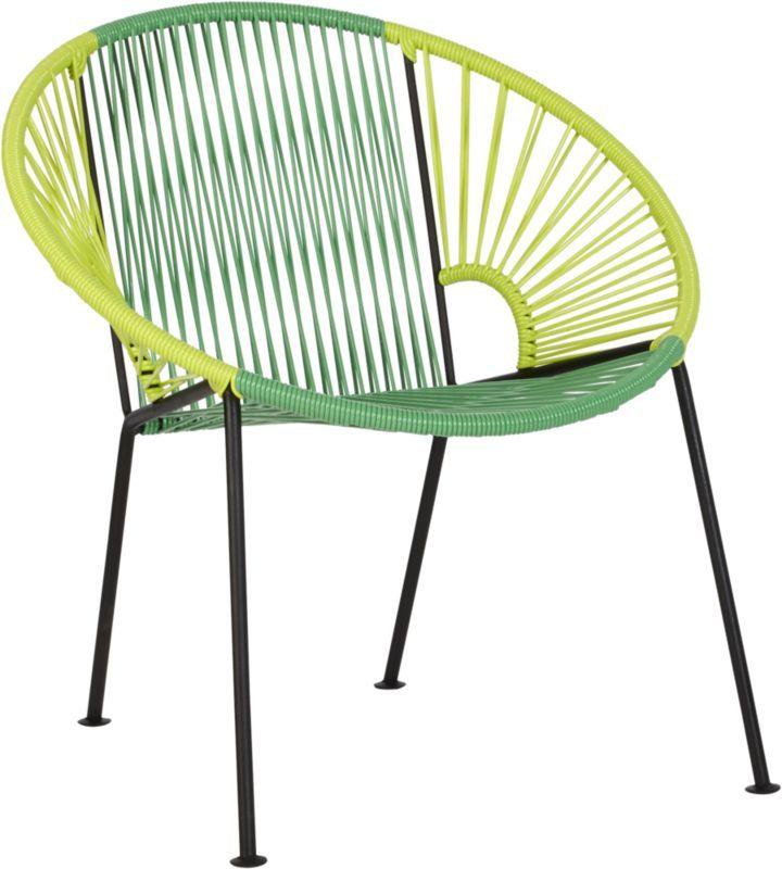 Ixtapa Tonal Green Lounge Chair In Outdoor Furniture
