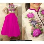 rakul-preet-singh-bhagalpuri-silk-pink-floral-print-semi-stitched-lehenga