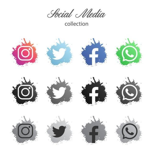 Kollekciya Logotipov V Sovremennyh Socialnyh Setyah Ikonki Socialnyh Media Socialnye Seti Logotip Socialnoj Seti Png I Vektor Dlya Besplatnoj Zagruzki Social Media Icons Internet Icon Instagram Logo