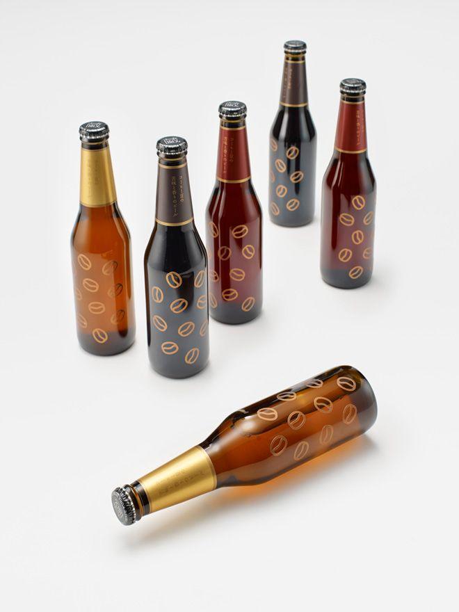 気仙沼の「アンカーコーヒー」と一関の「世嬉の一酒造」がコラボした、コーヒービールのパッケージ。(via coffee beer)