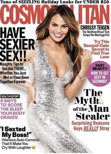 Chrissy Teigen - Cosmopolitan Magazine Cover [United States] (December 2016)