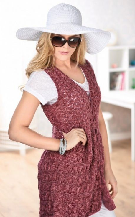 Long Gilet Knitting Pattern : 440 best Womens fashion images on Pinterest Pattern library, Knitting ...