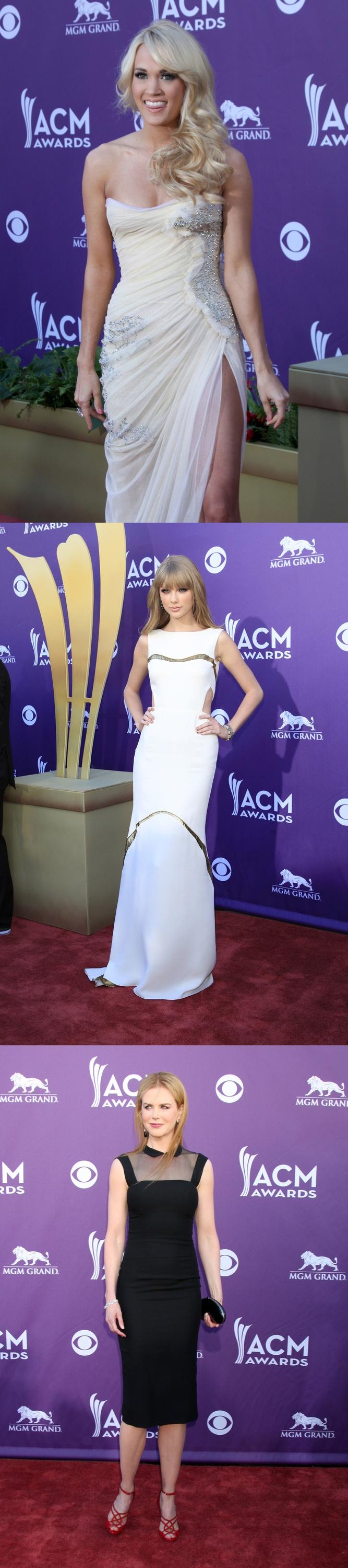 Red carpet photographs taken at the 47th Annual Academy Of Country Music Awards 2012...