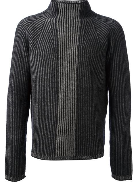 Shop Jil Sander ribbed roll neck sweater in Idrisi from the world's best independent boutiques at farfetch.com. Shop 300 boutiques at one address.