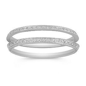 Vintage Diamond Double Wedding Band. Like a wrap or enhancer band, but they'll come apart when necessary.