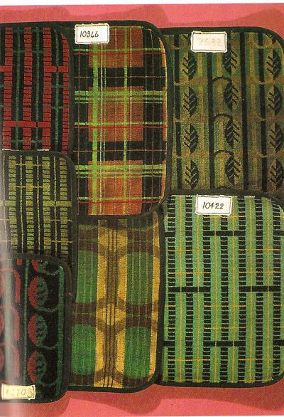 Enid marx 39 s fabric designs for the london underground for London underground moquette