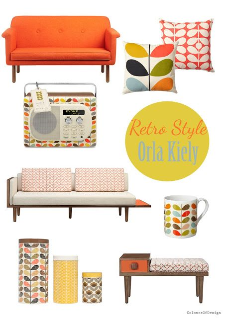 Colours of Design: Retro style: Orla Kiely