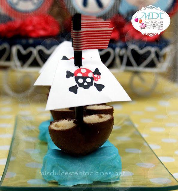 mis dulces tentaciones - tartas, galletas, cupcakes & buffet de dulces, party decorations : el cumple de mi pequeño pirata