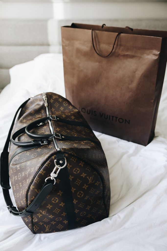 1a5884abba3d Find the Louis Vuitton Weekend bag  at The RealReal presents a different  experience than thumbing through scarves at the dowager consignment shops  of the ...