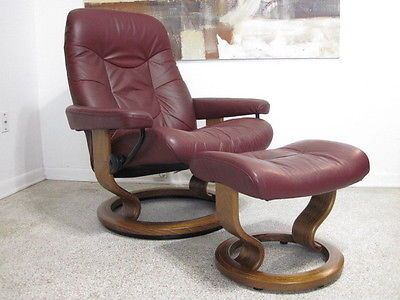 Ekornes Stressless Recliner Chair Danish Modern Leather Large CONCORDE Wine Teak & 15 best Vintage Danish Swivel Recliners images on Pinterest ... islam-shia.org