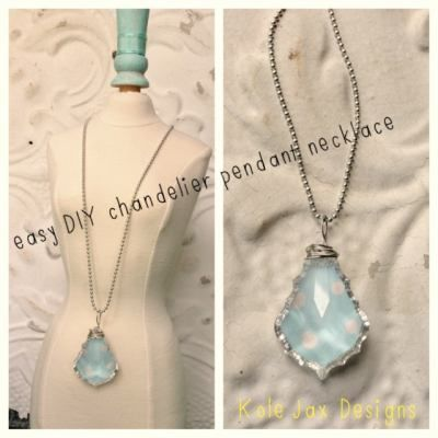 Easy DIY Chandelier Pendant Necklace!
