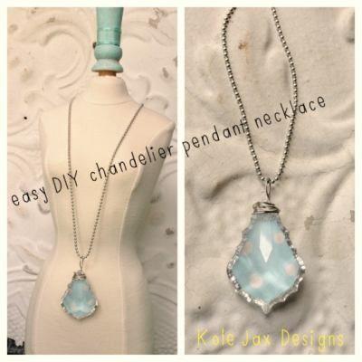 Easy DIY Chandelier Pendant Necklace!