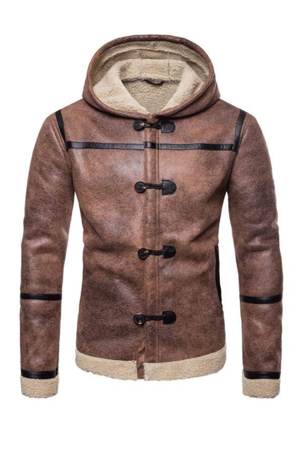 Mens Flight Suit,Mens Packwork Hoodie Thermal Windbreaker Coat,Trench Coat Men