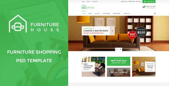 Furniture House : Furniture Shopping PSD Template - Shopping Retail