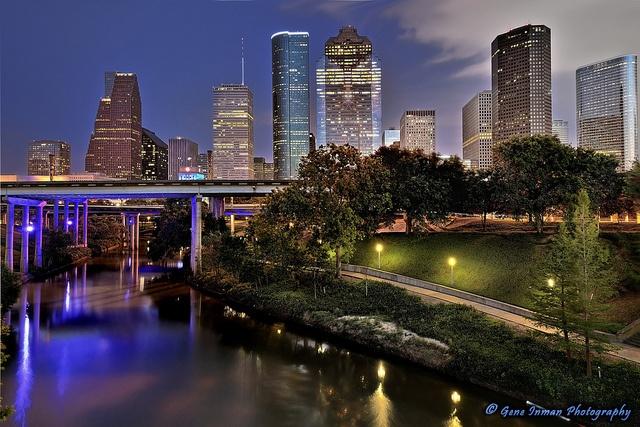 Houston City Skyline by Gene Inman - www.geneinman.com, via Flickr