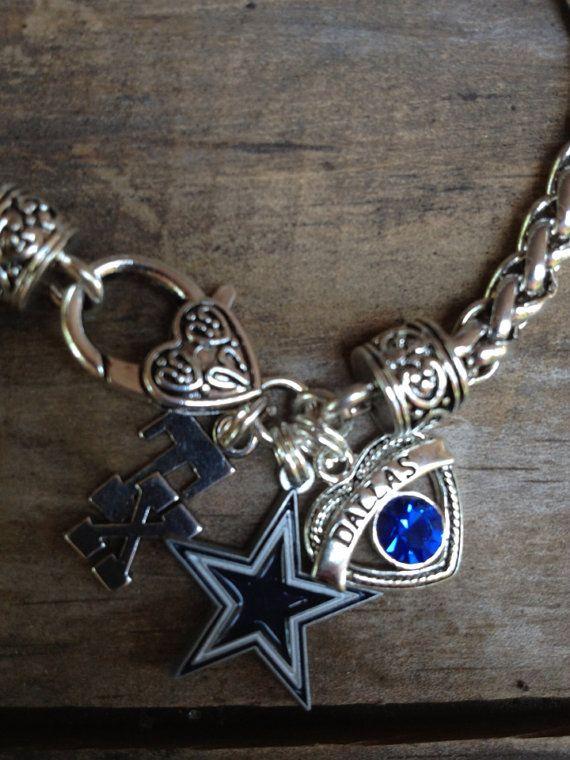Dallas Cowboys bracelet by Beckyschunkystuff on Etsy