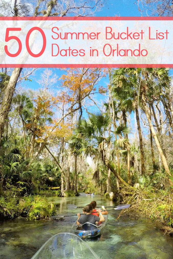 50 Summer Bucket List Dates in Orlando | Soaring temperatures, rainy afternoons, and a daily giving of thanks for air conditioning…yep, it's officially summer in Orlando! Don't let the season put a damper on date night; instead, tackle this summer bucket list of activities with your partner while staying cool.