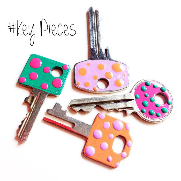 key, nail polish, keys, DIY
