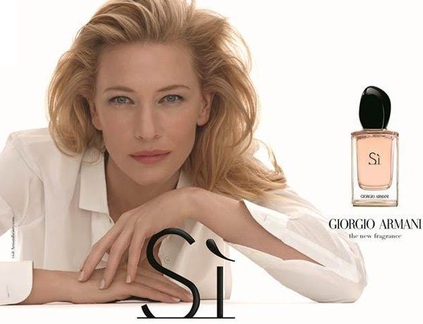 Cate Blanchett is the face of the new Giorgio Armani fragrance 'Si'